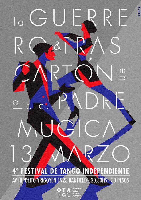 4º Festival de Tango Independiente by Max Rompo, via Behance