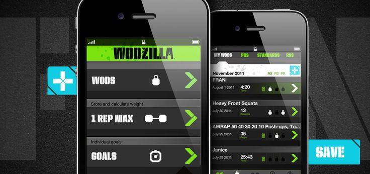 Wodzilla Crossfit App iPhone Crossfit app