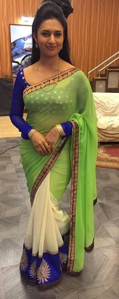 Image result for divyanka tripathi in saree in yeh hai mohabbatein