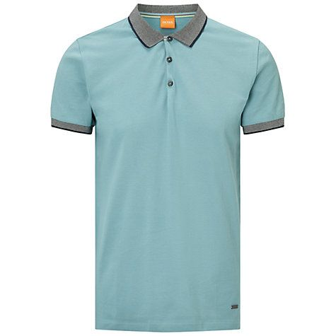 BOSS Orange Pejo Regular Fit Polo Shirt, Dark Blue