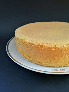 AranyTepsi: Egyszerű piskóta kis tortához