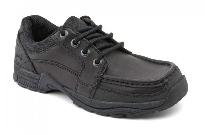 Startrite Rhino DYLAN School Shoes Size 3 - 9 New Black Leather Lace Ups F G