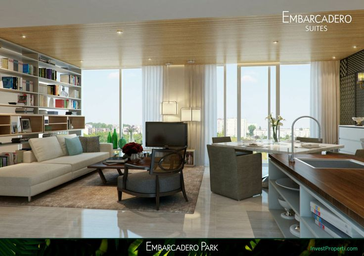 Interior Design Living Room Embarcadero Suites Bintaro Apartment