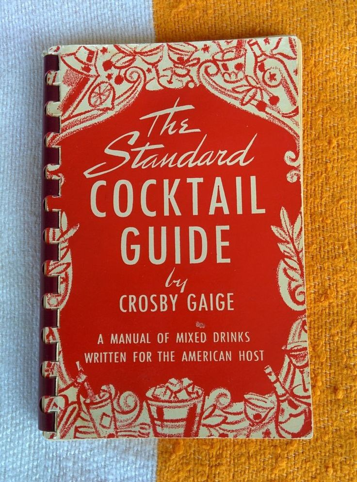 1944 The Standard Cocktail Guide by Crosby Gaige