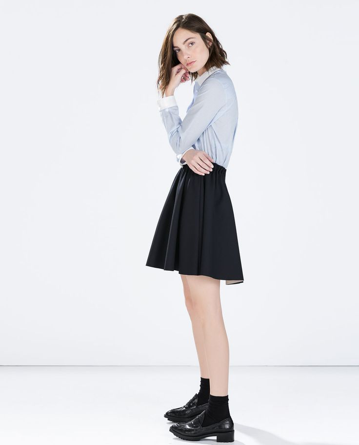 SKIRT WITH ELASTIC WAIST-View all-Skirts-WOMAN-SALE   ZARA United States
