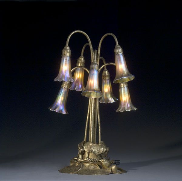 This Tiffany Seven Light Lily Lamp With Gold Dore Base Is One Of The Mostu2026