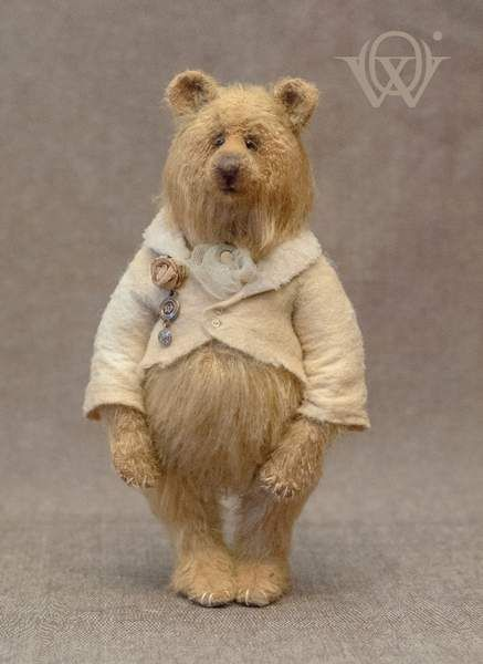 Flossy By Olga Vishnevetskaya - Flossy is a one of a kind teddy bear. He is very fluffy and cozy.Materials and technologyPattern uniquely designed by the creator German wool mohair Glass eyes Entirely hand sewn Stuffed with cedar sawdust mixed with Siberian herbs Tinted by oil paints Fiv...