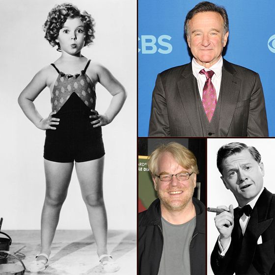 Us Weekly honors those celebrities who have died in 2014, including Robin Williams, Philip Seymour Hoffman, Shirley Temple, and Mickey Rooney