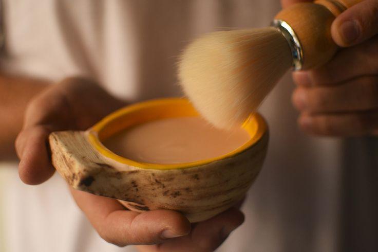 Kit barbero. Perfecto para él! Porque también puede cuidarse naturalmente. Vasija por artista artesana.