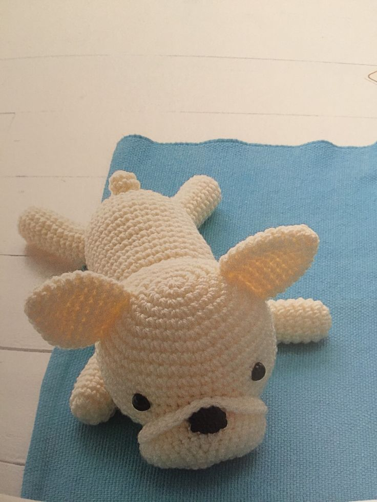 A personal favourite from my Etsy shop https://www.etsy.com/au/listing/259272979/french-bulldog-amigurumi-dog-amigurumi