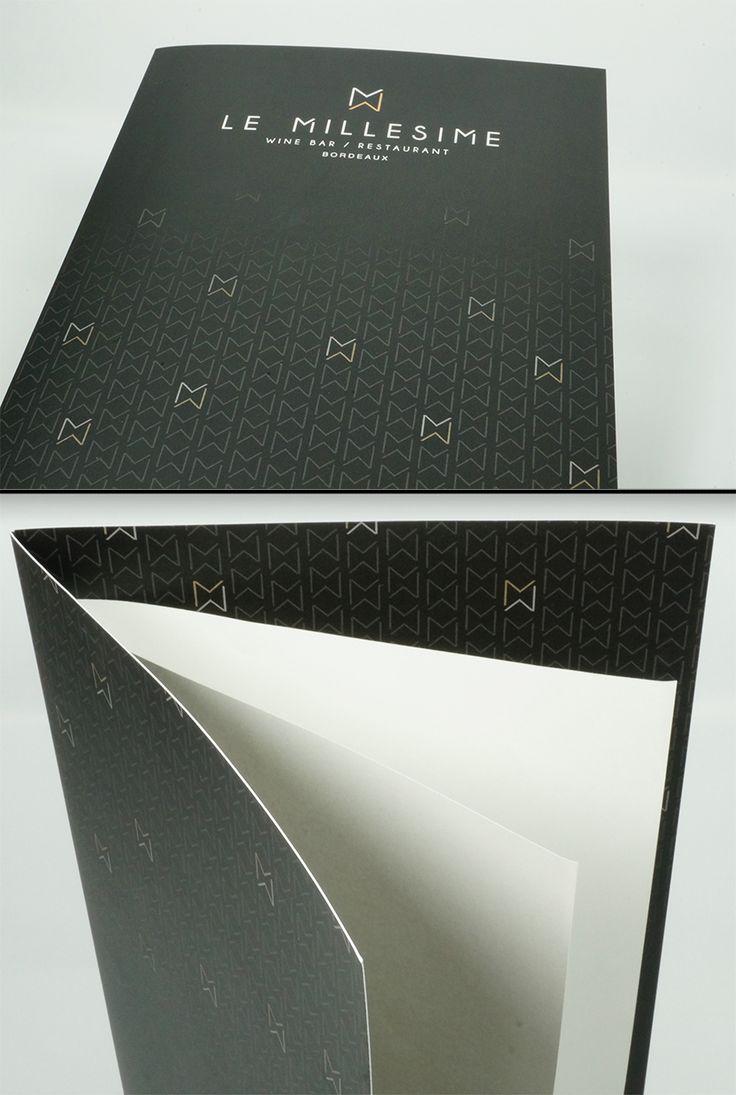 Impression quadri Recto Verso sur papier couche satine 350 gr + pelliculage mat recto verso.nCreation graphique copy-media.n