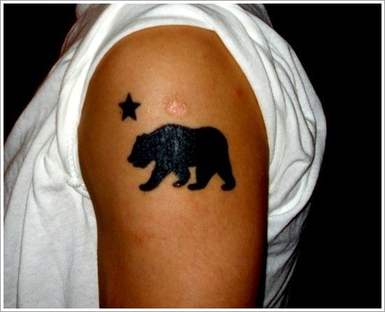 150 Cute Bear Tattoos And Their Meanings nice  Check more at https://tattoorevolution.com/bear-tattoos-meanings/