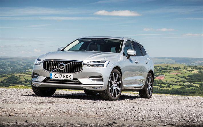 Descargar fondos de pantalla Volvo XC60, 2017, SUV, plata XC60, coches nuevos, sueco de automóviles, Volvo
