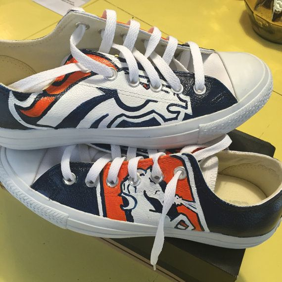 Denver brocos handpainted converse shoes low tops by wendybusch22