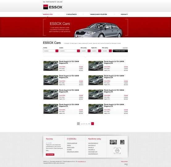 Essox Cars - Site for ESSOX partner of KB bank.