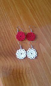 Crochet Doily Earrings. Free pattern by Emily Forrest on Ravelry