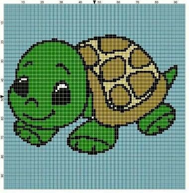 Kaplumbağa Nakış Pinterest Cross Stitch Turtle And