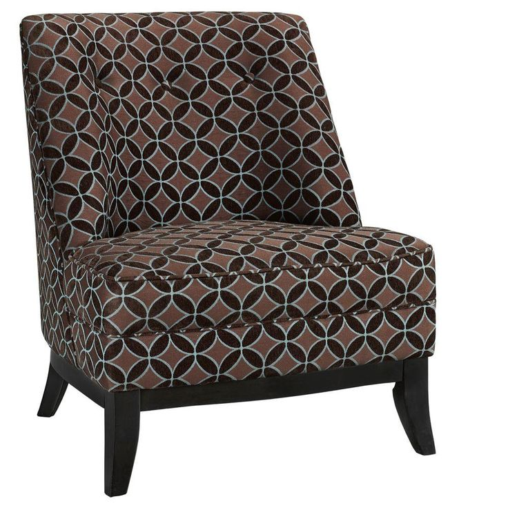 Home Decorators Collection Tucci Brown & Blue Slipper Chair