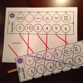 Free: Self Correcting Math Skill Reinforcement Cards, Set #5 COUNTING DOTS - Free