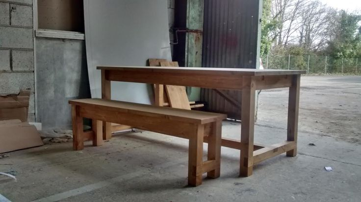 Refectory style table and bench: www.pinefarmhousetable.co.uk