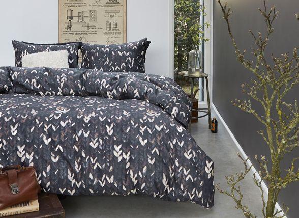 Beddinghouse dekbedovertrek flanel Kirkwood grijs beddengoed by morpheus