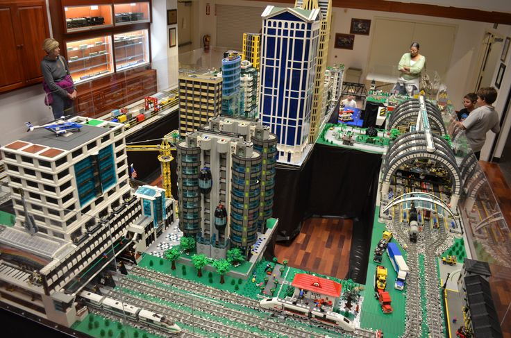 with this Custom Lego Build complete with a Lego Train