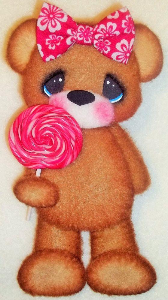ELITE4U Tear Bear girl pink ~ paper piecing scrapbook ~card ~ album