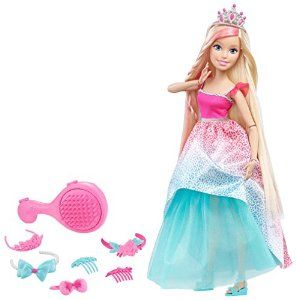 "Amazon.com: Barbie Dreamtopia Endless Hair Kingdom 17"" Doll - Blonde: Toys & Games"