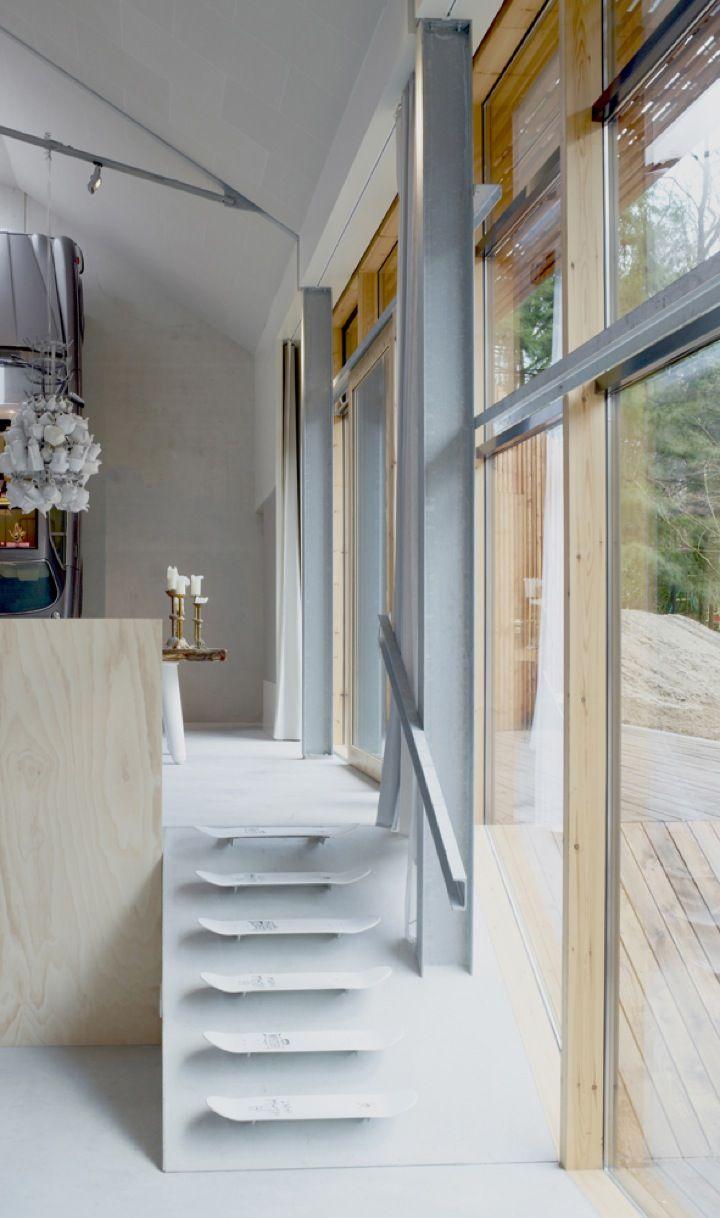 steps: Interior Design, Idea, Skateboard Decks, Interiors, Skateboard Steps, Skateboard Stairs, Dutch Mountain, Architecture, Mountain House