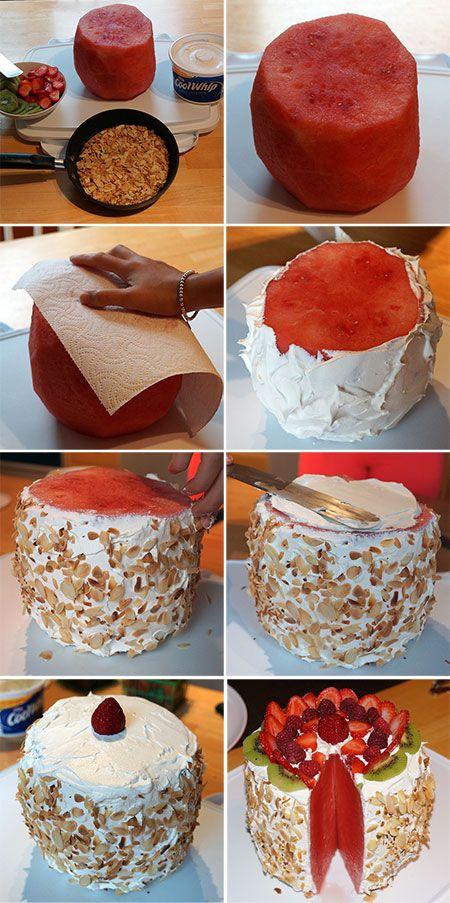 gezonde taart, met erg weinig calorieën