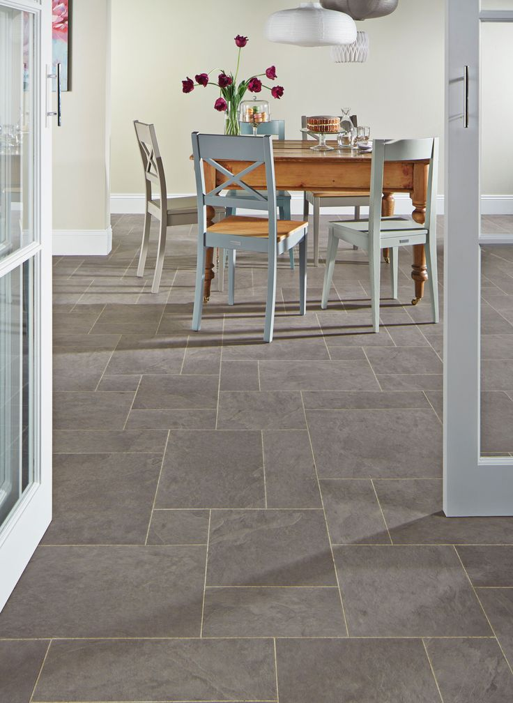 Karndean floor   less regular grey tile effectBest 10  Vinyl flooring kitchen ideas on Pinterest   Flooring  . Flooring Ideas For Kitchen. Home Design Ideas