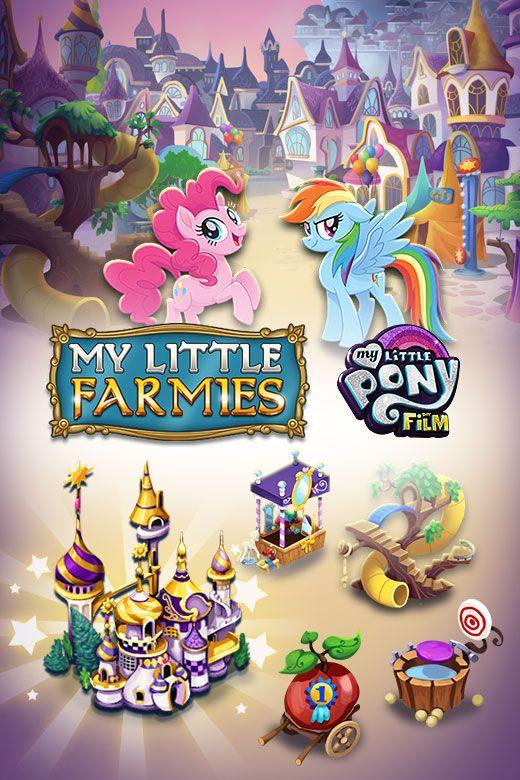 Zum #Kinostart von #MyLittlePony - Der Film gibt es ein tolles #MyLittleFarmies #Event mit #RainbowDash #PinkiePie #SchlossCanterlot und einem #RiesigenRegenbogen in #Equestria