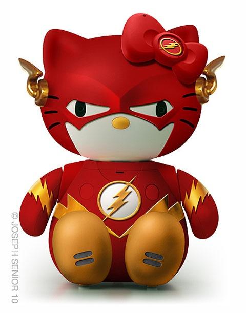 Hello kitty and flash mash up