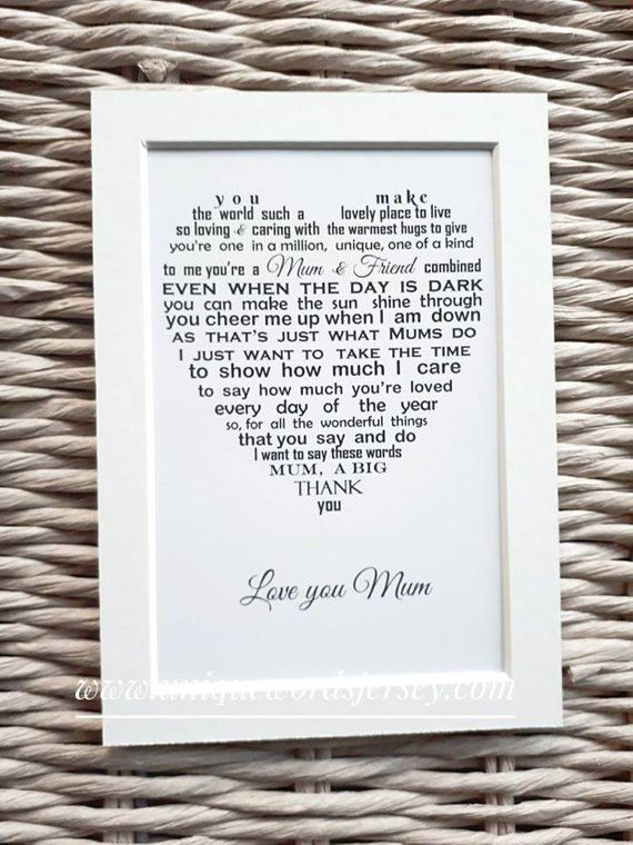 Mum Gift Personalised For On Mothers Day Personalized Mom Birthday Gifts Mother Daughter