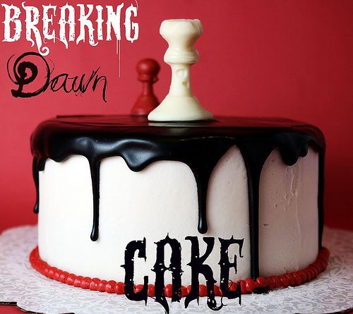 Breaking Dawn (Twilight) Cake. Will def. have to make this for the 2nd movie Girl's night out ;)