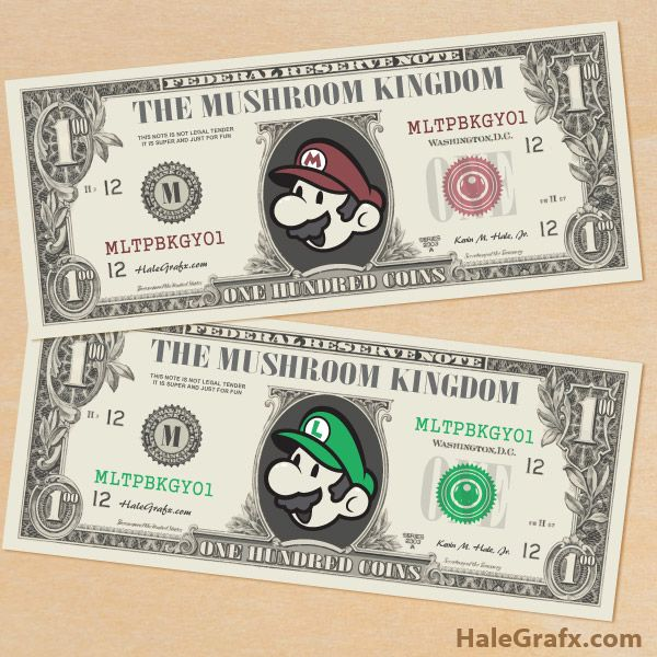 25+ parasta ideaa Pinterestissä Anniversaire mario bros Mario - play money template
