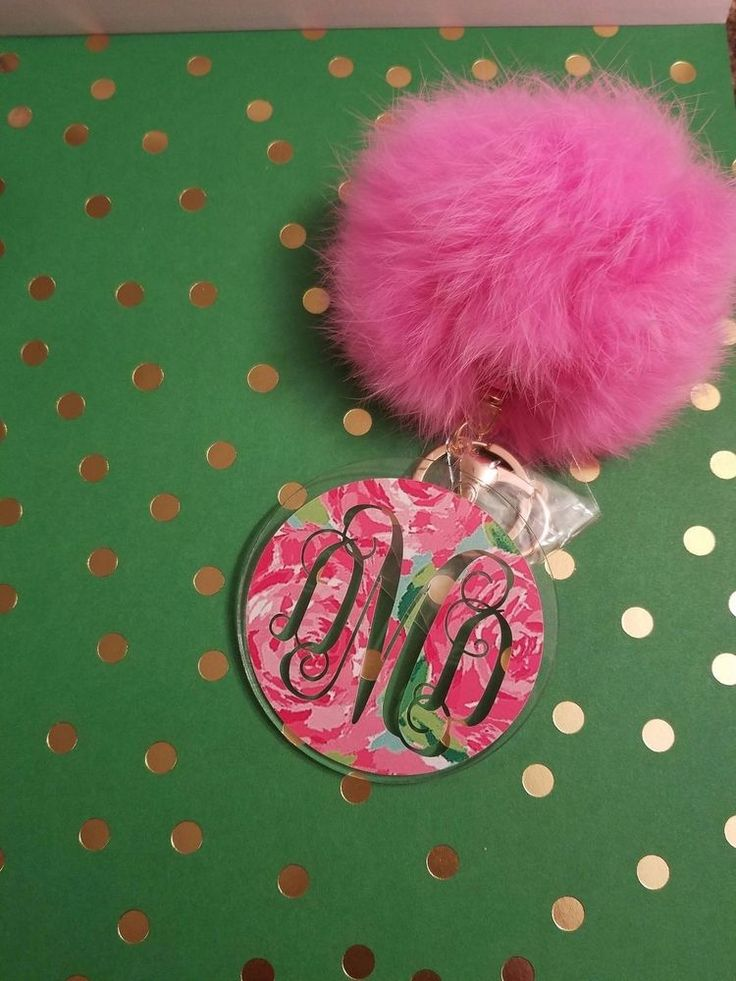 Monogram Keychain with Initials, Handmade, Acrylic, Great for Gifts!   | eBay