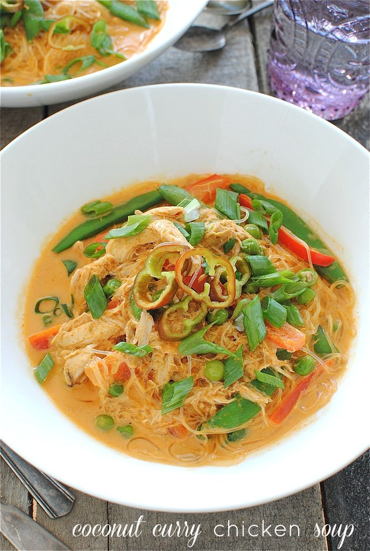 Coconut Curry Chicken Soup / Bev Cooks