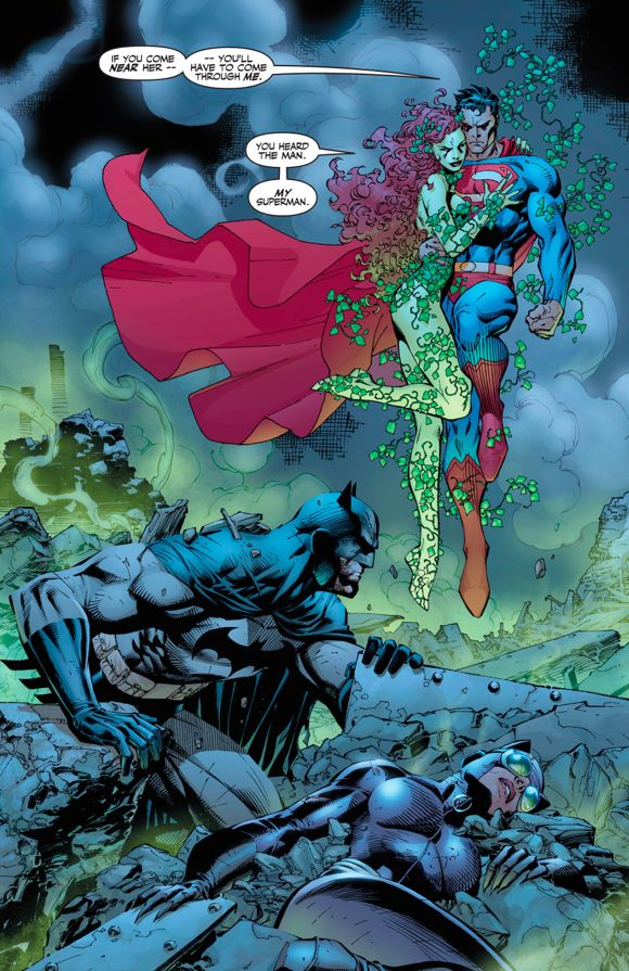"""Supes Feeling Poison Ivy's Influence in """"Batman Hush"""""""