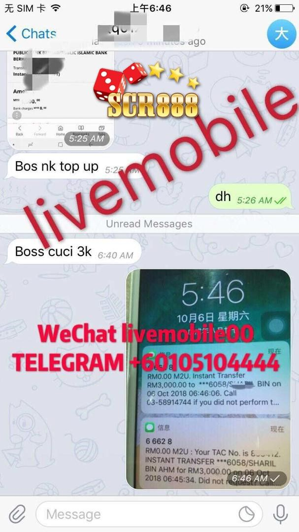 Join SCR888now!!!! 100% safety and fast withdraw service    Wechat