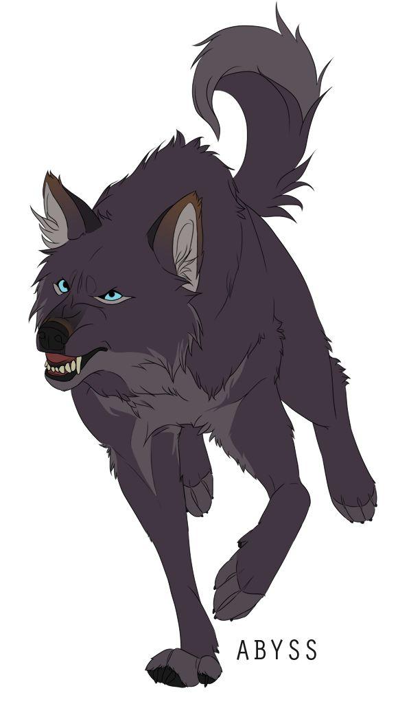 Wolves / dark gray, blue-eyed wolf / (Abyss by Naviira.deviantart.com on @DeviantArt)