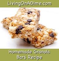 Make Homemade Granola Bars for just $1.50.  Fresh and healthy for your family. Click her for this #recipe from Dining On A Dime Cookbook. http://www.livingonadime.com/store/dining-on-a-dime-cookbook/ .