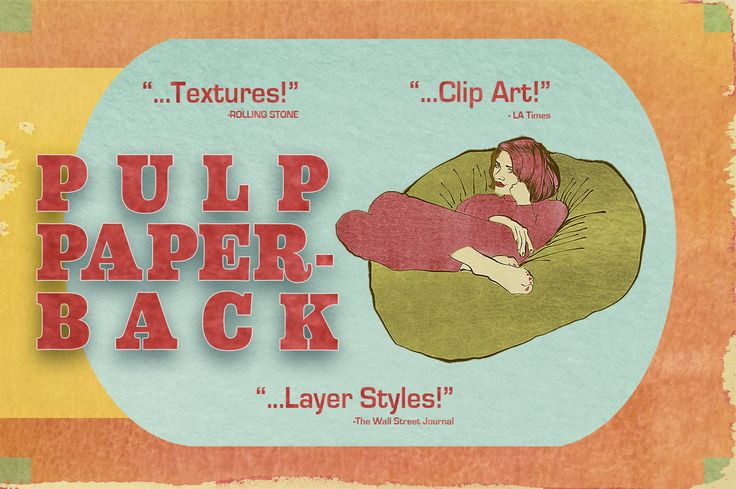 Pulp Paperback - Free Textures, Clip Art and Photoshop Layer Styles