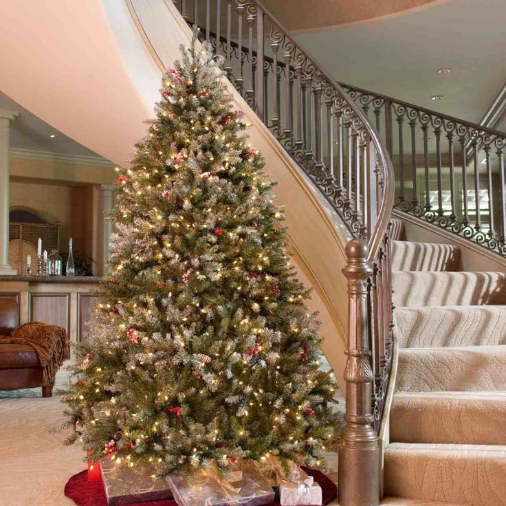 New Post grand fir christmas tree decorated