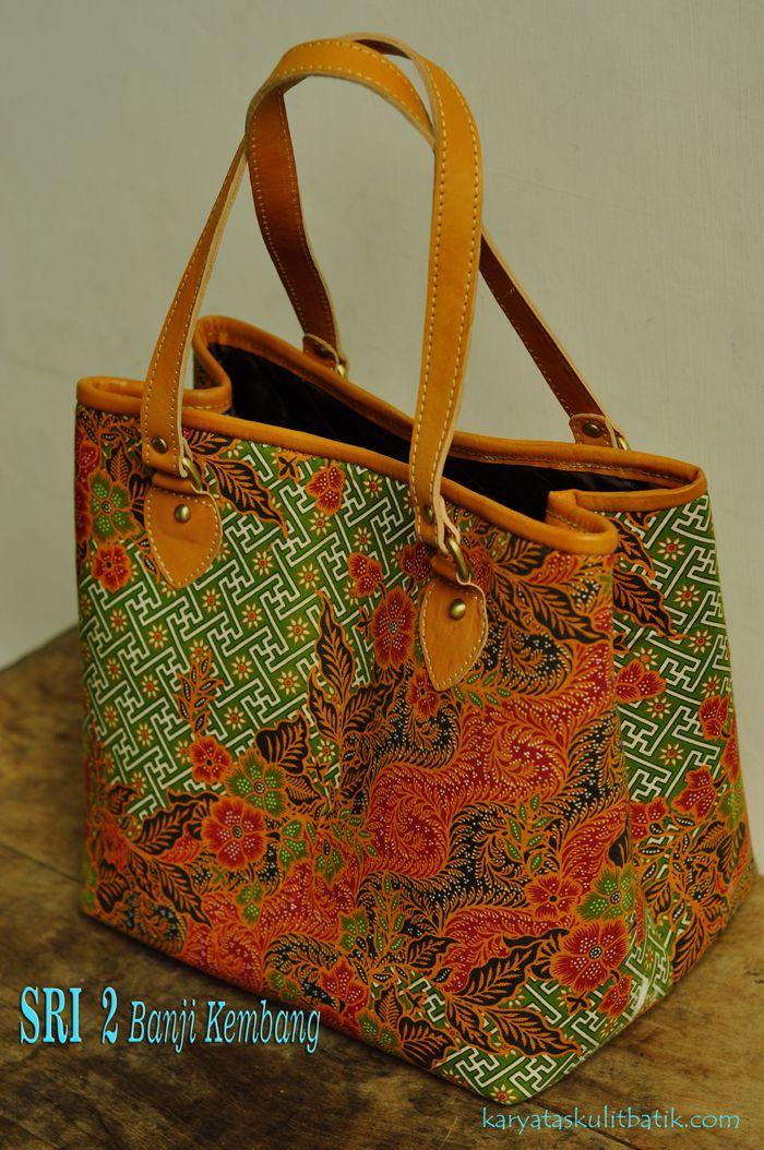 Sri 2 Banji Kembang (Tas Kulit Batik )..Karyatasku