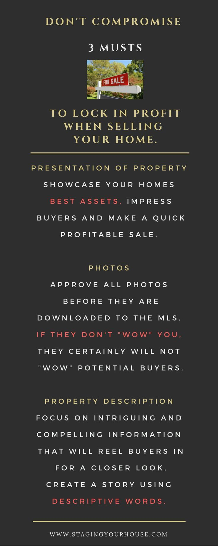 Do you know how many people complain about their MLS listing? Sorry this is not your Real Estate Agent's fault, it is yours because you allowed it to happen. Preparing your home for sale is a must to attract buyers and receive full price offers. How to sell a house fast.
