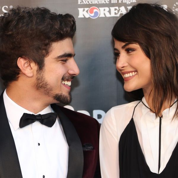 Look de Maria Casadevall e Caio Castro.
