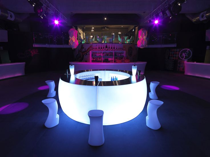 Fiesta collection, indoor/outdoor bar with LED feature