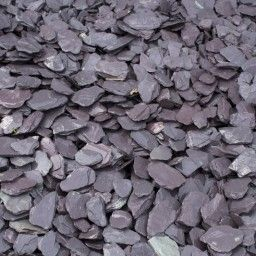 Blue Slate 40mm Gravel Chippings Bulk Bag