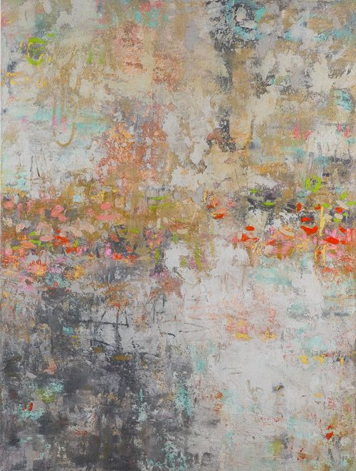 Romantic Whispers Oil And Texture 48 X 36 In Original